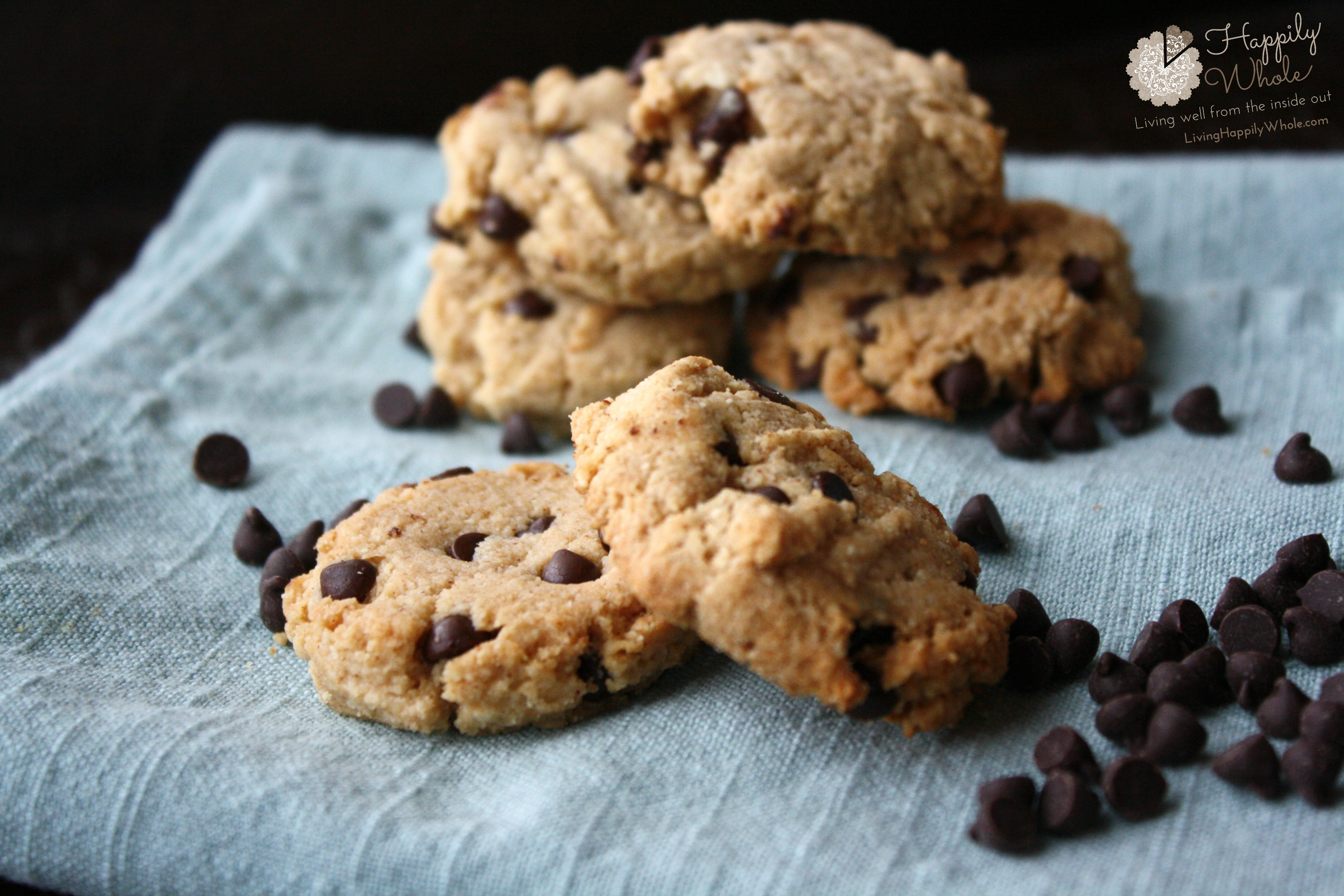 Grain Free Almond Chocolate Chip Cookies | Happily Whole