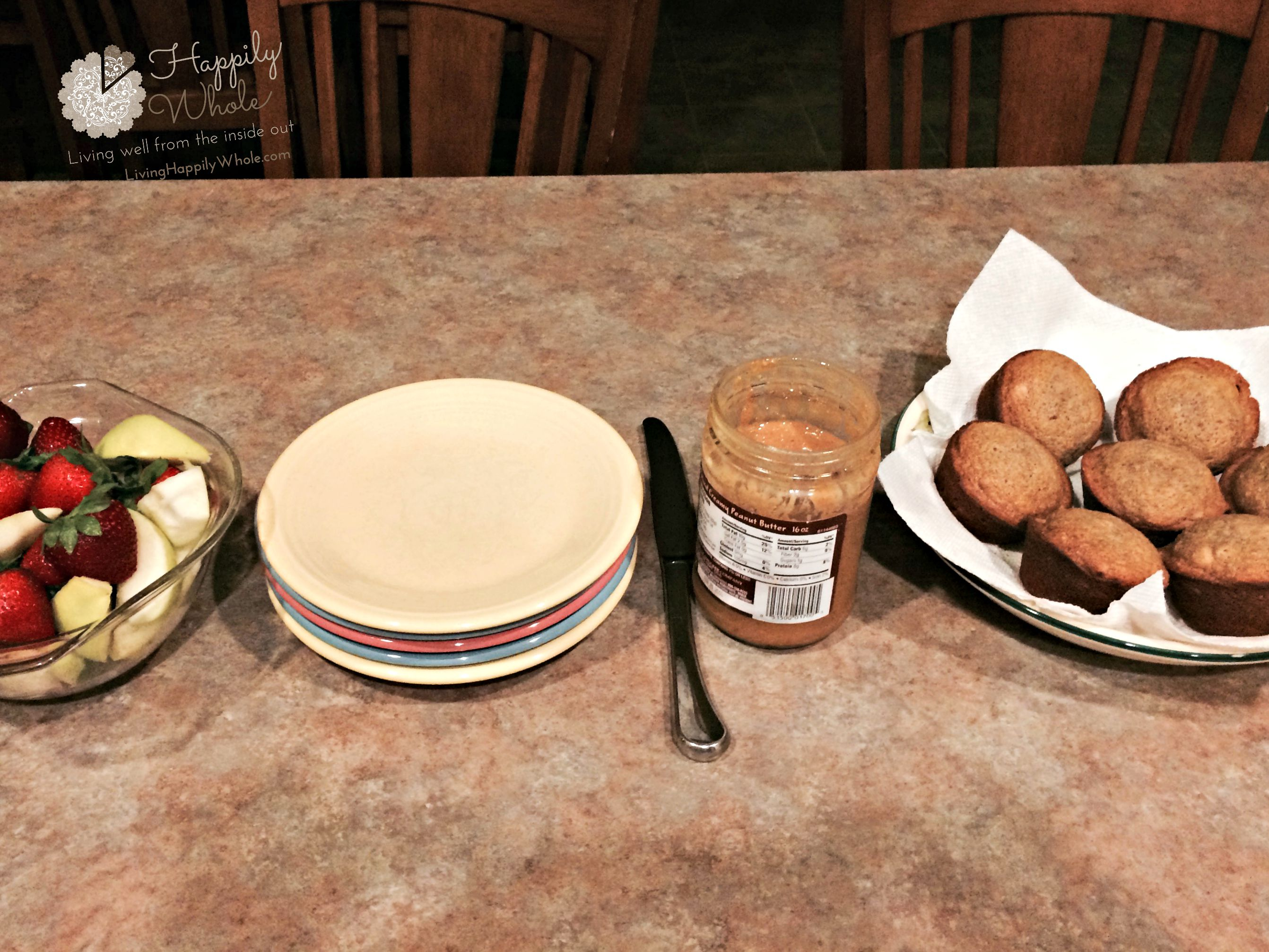 Banana muffins before school...What they all woke up to