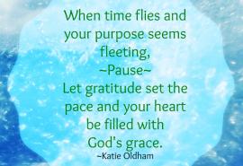 God's grace and gratitude set the pace