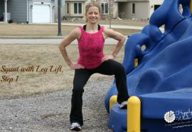 Squat with Side Leg Lift