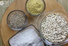 Grains--millet, oats, steel cut oats, buckwheat
