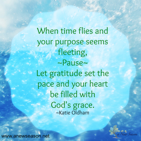 God's grace and gratitude set the pace