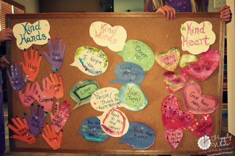 Kind Hands, Kind Words, Kind Heart Bulletin Board