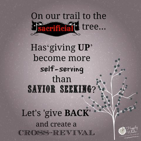 Make a reverse sacrifice so we can all create a cross revival!