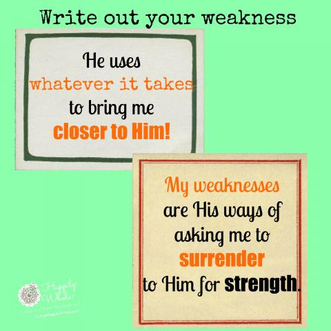 I am strong when I am weak