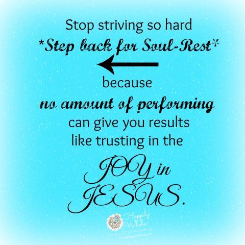 Stop Striving