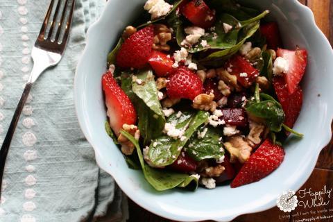 Strawberry Beet Salad with Homemade Balsamic