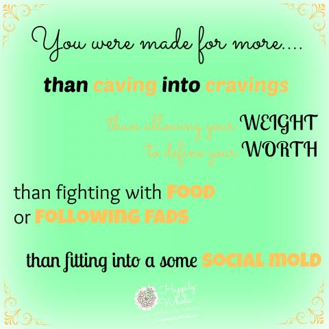 You were made for more...