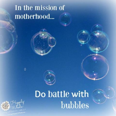 bubbles and motherhood