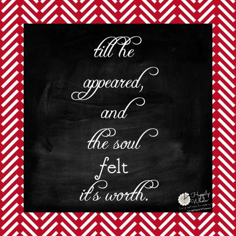 Christmas--my soul feels its worth!