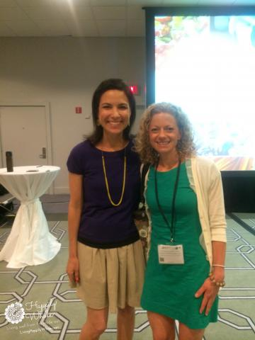 Lisa Leake and I in Miami at Blogher Food