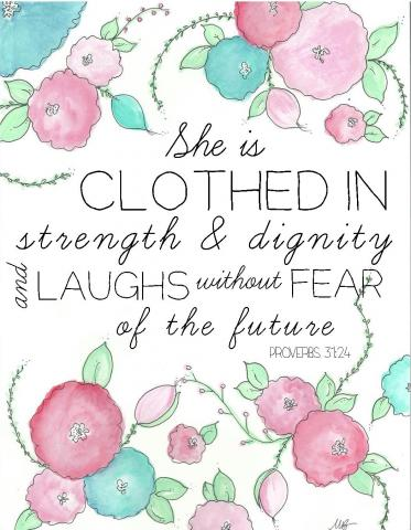 Proverbs Printable...you are already beautiful