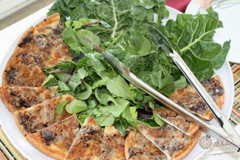 Whole grain pizza platter