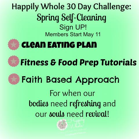 spring clean eating challenge