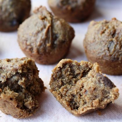 Chocolate, Chick Pea Mini Cookie-Cupcakes