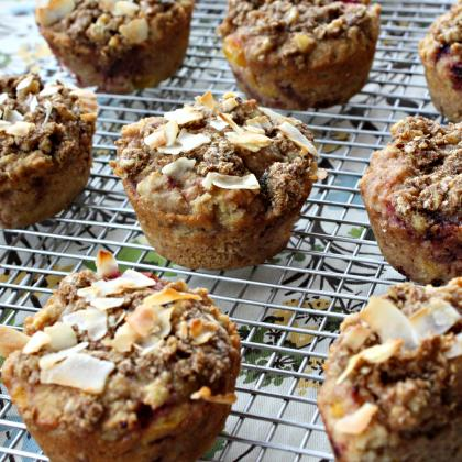 Grain Free Strawberry Mango Muffins