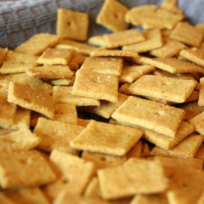 Easy Cheesy Crackers, gluten and grain free