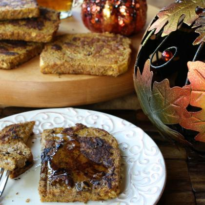 Healthy Pumpkin French Toast