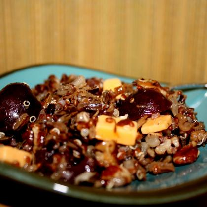 Wild Rice, Quinoa Cherry Salad