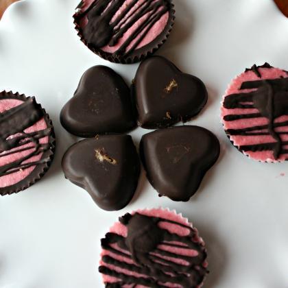 Strawberry Cheesecake Dark Chocolates