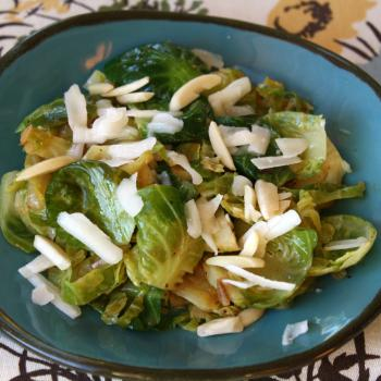 Walnut oil Sauteed Brussels Sprouts