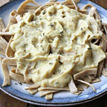 Cauliflower Alfredo Sauce, vegan and gluten free