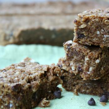 Gluten Free, Chocolate Chip, Quinoa Breakfast Bars