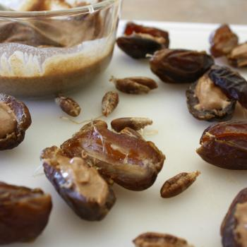 Decadent Dates-stuffed with almond butter