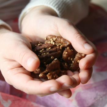 Roasted Pecans with Quinoa
