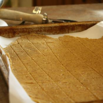 Gluten Free MultiGrain Cracker Dough rolled out