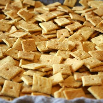 Easy Cheesy Crackers, gluten and grain free. Baked!