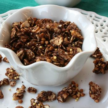 Chocolate Coconut Christmas Gift Granola