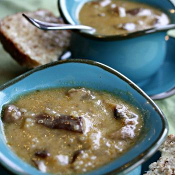 Creamy Mushroom Quinoa Soup with Coconut Broth