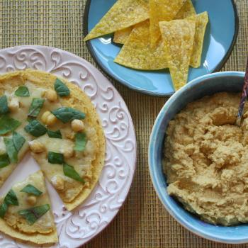 Pumpkin Hummus and a Healthy Tortilla Lunch