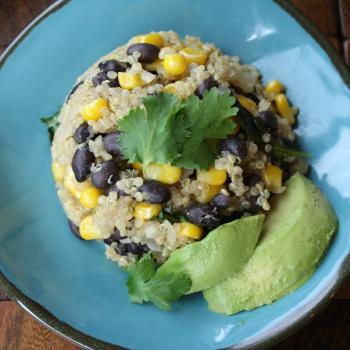 Quinoa Black Bean Salad with Cilantro and Corn-2