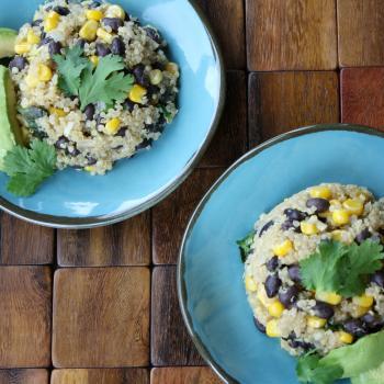 Quinoa Black Bean Salad with Cilantro and Corn-3