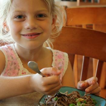Spring Pea and Tofu Stir Fry with Soba Noodles, Evelyn Loves it!