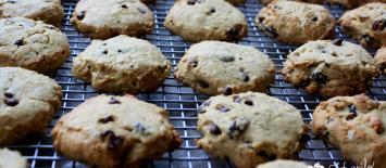 Breakfast cookies, gluten free, chickpea flour, oats