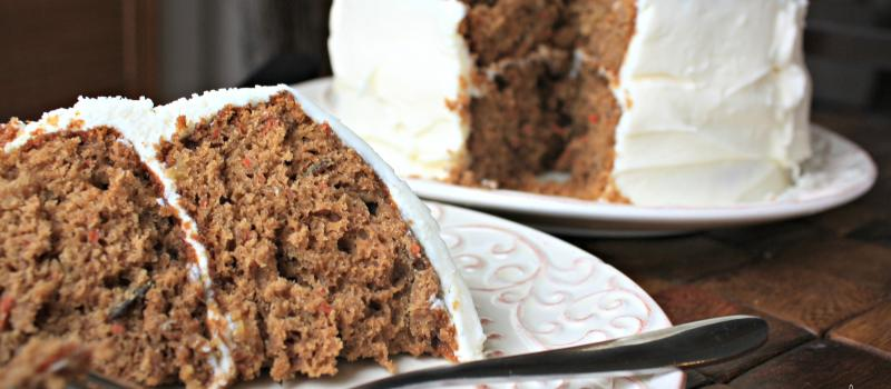 Makeover Carrot Cake with Cream Cheese Frosting