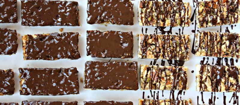 Dark Chocolate Toasted Seed-n-Nut Bars