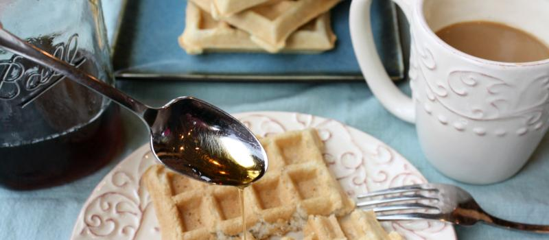 Gluten Free Waffles, almond and coconut flour