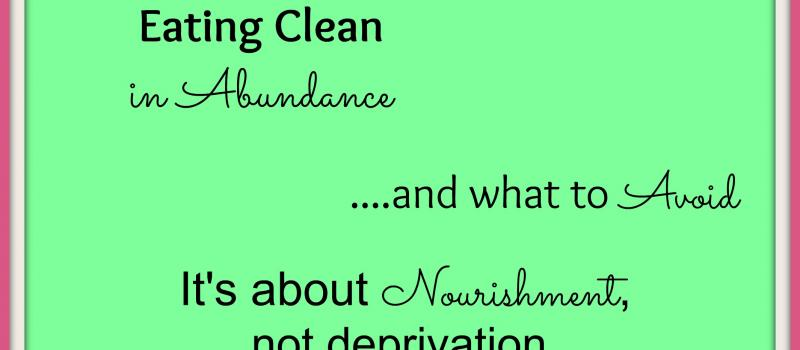 Eating Clean Food Lists