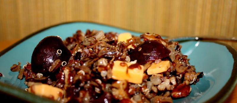 Wild Rice, Quinoa Cherry Salad