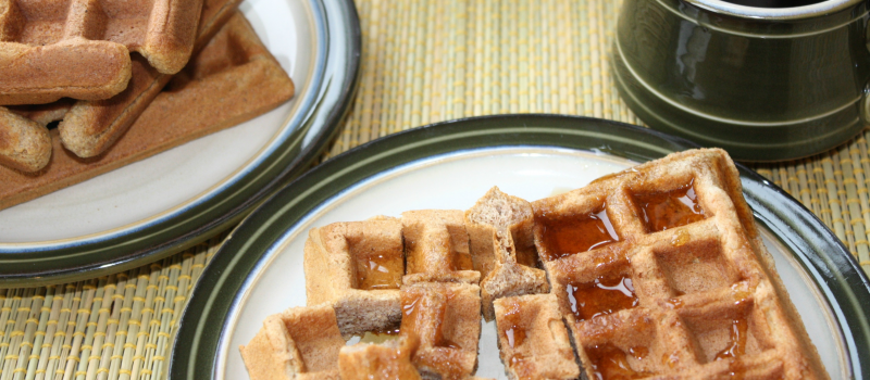 Weekend Whole Wheat Almond Waffles