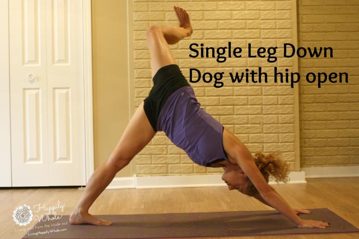 downward facing dog with open hip