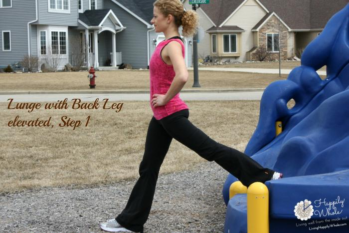 Lunge with Back Leg Elevated, Step 1