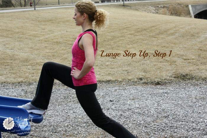 Lunge Step Up, Step 1
