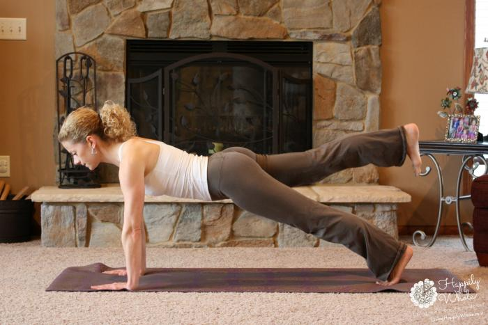 Straight Arm Plank with Leg lifted