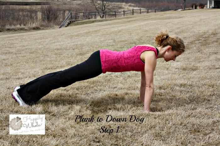 Plank to Down Dog Step 1