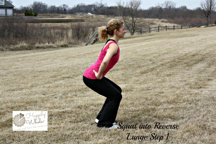Squat to Reverse Lunge Step 1